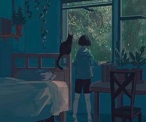 art, anime, and cat image