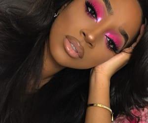 beauty, girl, and eyeshadow image