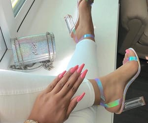 nails, shoes, and heels image