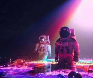 astronaut and illustration image