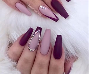 glam, nails, and pink image