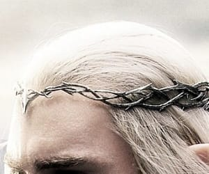 blonde, crown, and elven image