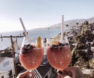 drink, summer, and travel image