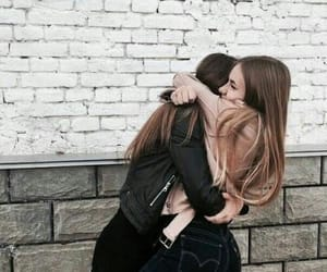 friends, hug, and bff image
