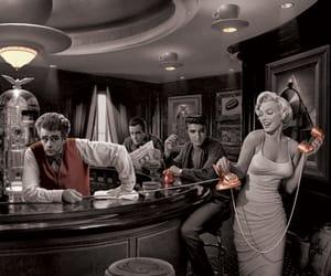 Marilyn Monroe, Elvis Presley, and james dean image