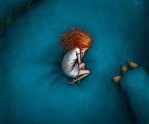 drawing, illustration, and sleep image