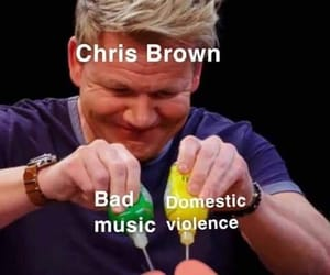 chris brown, emotions, and fan image