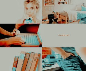 aesthetic, book, and fangirl image