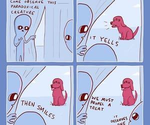 alien, dog, and strangeplanet image