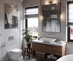 interior, style, and bathroom image