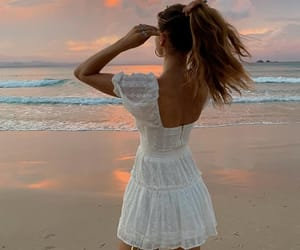 beach, sunset, and beauty image