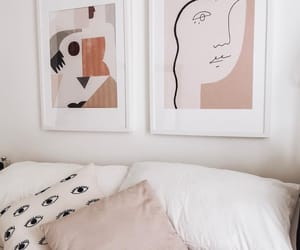 art, bedroom interior, and line art image