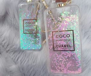 chanel, glitter, and case image