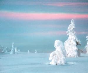 blue, landscape, and pink image