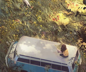 anime, flowers, and vintage image