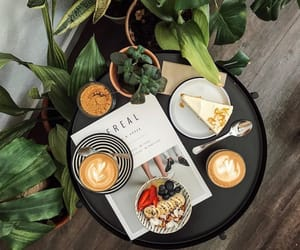 cafe, cereal, and coffee image