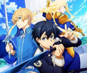 anime, sword art online, and anime girl image