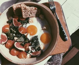 food, eggs, and tomato image