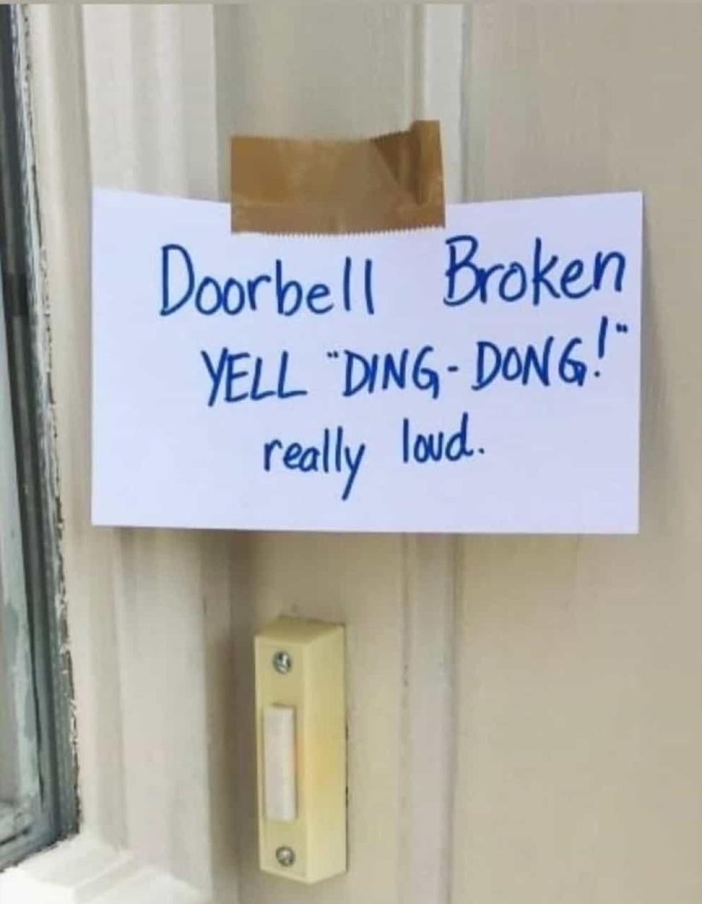 Image de broken and doorbell