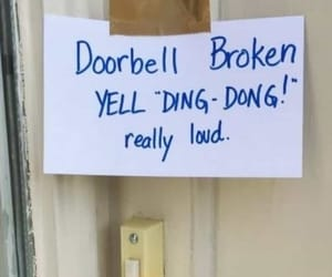 broken and doorbell image