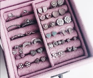 earrings, jewerly, and pink image