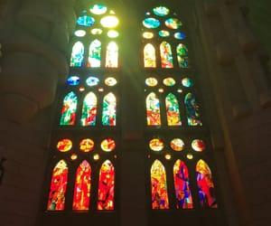 Barcelona, church, and window image