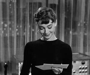 black and white, audrey hepburn, and beautiful image