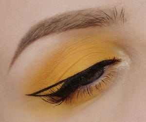 makeup, eye, and yellow image