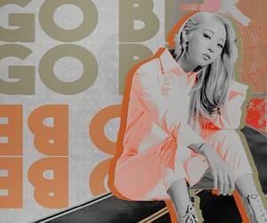 aesthetic, black and white, and orange image