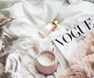 coffee, magazine, and vogue image