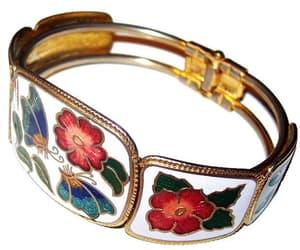 etsy, flower bracelet, and cuff bracelets image