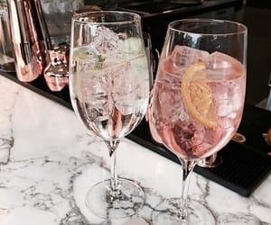 drink, cocktail, and champagne image