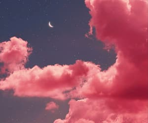 clouds, photography, and pink image