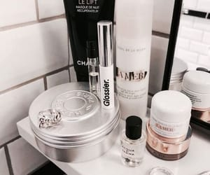 skincare, rose gold, and makeup image
