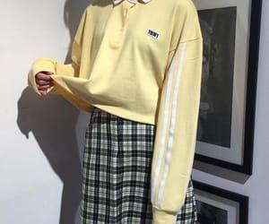 yellow, girl, and kfashion image