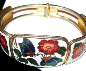 etsy, flower bracelet, and clamper bracelet image