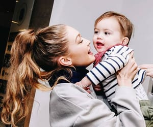 baby, celebrities, and hairstyle image