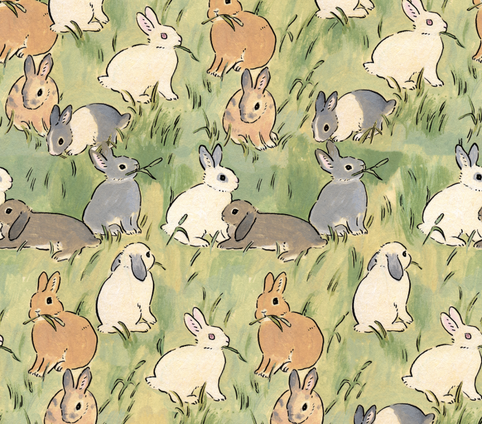 bunny, aesthetic, and green image