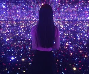 girl, purple, and light image