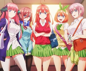 anime, anime girl, and gotoubun no hanayome image
