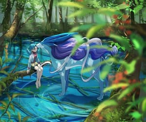 crystal, manga, and suicune image