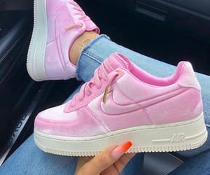 nike, pink, and sneakers image