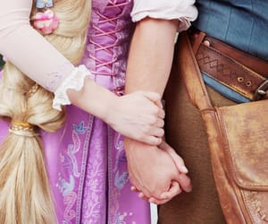 cosplay, in love, and rapunzel image