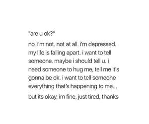 alone, depression, and heartbreak image