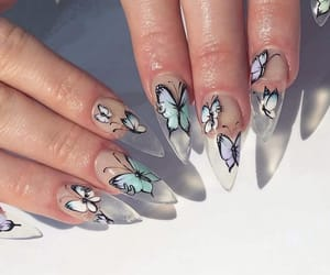 butterfly, nails, and aesthetic image