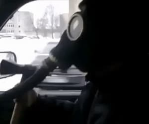 axes, gas mask, and gas masks image