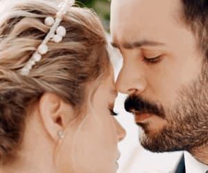 beautiful couple, wedding, and married couple image