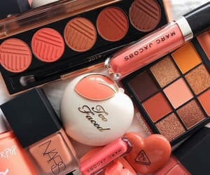 makeup, nars, and peach image