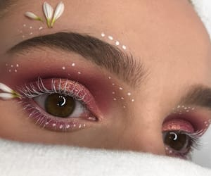 flowers, makeup, and spring image