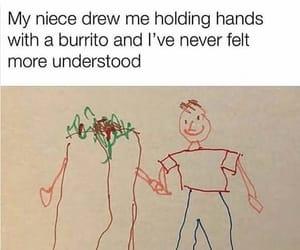 burrito, food, and humor image